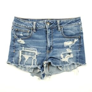 American Eagle womend distressed jean high rise 10